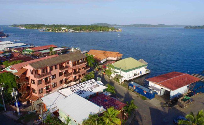 Birds eye view of Hotel